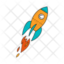 Spaceship Rocket Spacecraft Icon