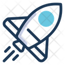 Spaceship Transportation Rocket Icon