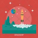Spaceship Galaxy Education Icon