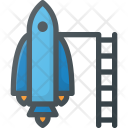 Spaceship Mission Rocket Icon