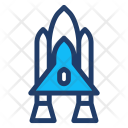 Spaceship Rocket Transport Icon
