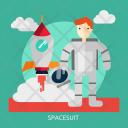 Spacesuit Space Universe Icon