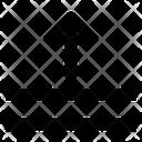 Spacing Basic App Down Arrow Icon