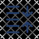 Spacing Decrease Arrows Icon