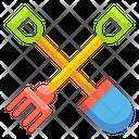 Spade And Rake Spade Rake Icon
