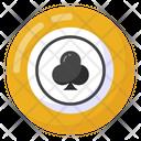 Casino Coin Spade Coin Poker Chip Icon