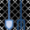Spade & Rake Icon