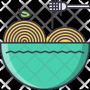 Spaghetti Pasta Fork Icon