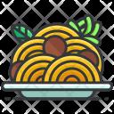 Spaghetti Fastfood Noddles Icon