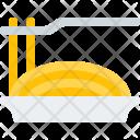 Spaghetti Line Food Icon