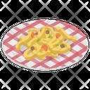 Spaghetti Noodles Pasta Icon