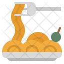 Spaghetti Bowl Plate Icon