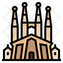Spain Temple Expiatori Dela Sagrada Familia Barcelona Icon