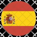 Spain Flag Circle Icon