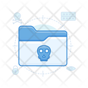 Spam Folder Infected File Infected Folder Icon