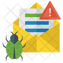 Spam Mail Mail With Virus Malware Detection Icon
