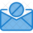Ban Paper Spam Mail Block Mail Icon