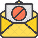 Ban Spam Mail Block Mail Icon