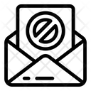 Spam Mail Block Mail Cyberattack Icon