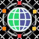 Spans Worldwide Spread Icon