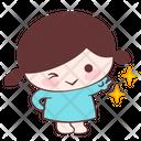 Happy Smile Sparkle Icon