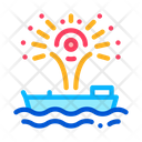 Firework Sparkle Boat Icon