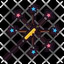 Sparkler Fireworks Fire Cracker Icon
