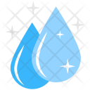Water Sparkling Droplets Icon
