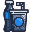 Sparkling Water Alcohol Beverage Icon