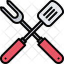 Spatula Fork Cooking Icon