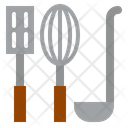 Kitchen Spatula Whisk Icon