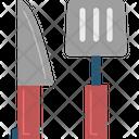 Spatula And Knife Icon