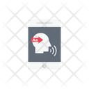 Speak Communication Mobile Icon