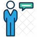 Speak Or Communication Business Man Interview Icon