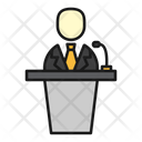 Speech Presentation Business Icon