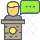Speaker Conference Chat Icon