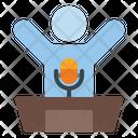 Speaker Speech Mic Icon