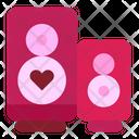 Speaker Heart Volume Icon