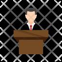 Speaker Speaking Podium Icon
