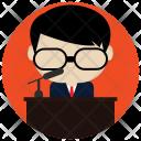Speech Speaker Podium Icon