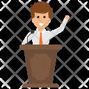 Speaker Speech Presentation Icon