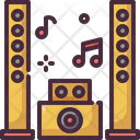 Speaker Music System Audio System Sound System Icon