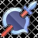 Rpg Spear Shield Icon
