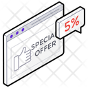 Special Offer Clearance Sale Ecommerce Icon