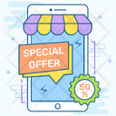 Special Offer Sale App Sale Promotion Icon