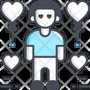 Boy In Love Lover Valentine Icon