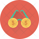 Spectacles Glasses Dollar Icon