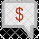 Speech Bubble Dollar Icon
