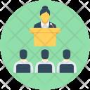 Speech Conference Presentation Icon