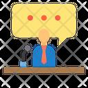 Speech Podium Speaker Icon